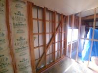 ⑤壁断熱材入れ工事