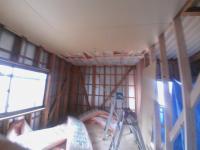 ④壁下地~天井ボード張替え工事
