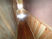 廊下腰板完工