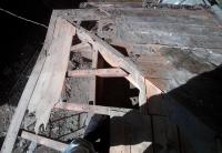 屋根、補修前